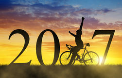 Forward to the New Year 2017 Stock Photo