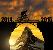 Forward to the New Year 2015 Stock Photo