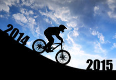 Forward to the New Year 2015 Stock Images