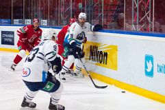 Forward Ville Leino (18) in action Stock Images