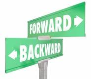 Forward Vs Backward Two Way 2 Road Signs Stock Photography
