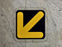 A forwarded yellow arrow Royalty Free Stock Image