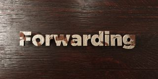 Forwarding - grungy wooden headline on Maple  - 3D rendered royalty free stock image Stock Photo