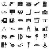 Forwarding icons set, simple style. Forwarding icons set. Simple set of 36 forwarding vector icons for web isolated on white background Stock Photo