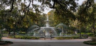 Forysth Park. Fountain in Forsyth Park in Savannah, Georgia stock photo