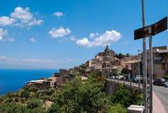 Forza d看法农业在西西里岛 免版税库存照片