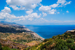 Forza d`Agro landscape in Sicily Royalty Free Stock Photo