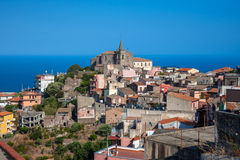 Forza-d'Agro - sizilianische historische Stadt stockbild