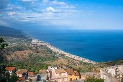Forza d'Agro - Sycylijski dziejowy miasto Zdjęcie Royalty Free