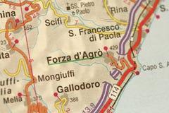 Forza d ` Agro Wyspa Sicily, Włochy Fotografia Royalty Free