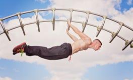 Forza del centro di allenamento di forma fisica Immagini Stock Libere da Diritti