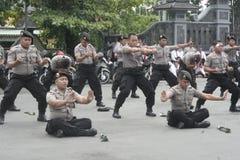 FORZA DI POLIZIA DI SICUREZZA DI PRESTAZIONE DI ELEZIONE Immagini Stock Libere da Diritti