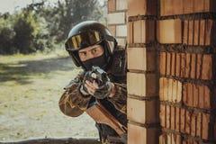 Forza speciale russa della polizia fotografia stock