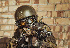 Forza speciale russa della polizia fotografia stock libera da diritti