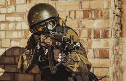 Forza speciale russa della polizia immagini stock libere da diritti