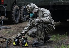 Forze chimiche nell'azione fotografie stock libere da diritti