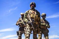 Forze speciali dei soldati di Jagdkommando Fotografia Stock Libera da Diritti