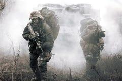 Forze speciali dell'austriaco dei soldati di Jagdkommando Fotografia Stock