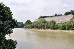 Fosa antycznego miasta ściana w Nanjing Fotografia Stock