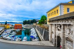 Fosa bay in Zadar town, Croatia. Scenic view at colorful bay in city center of town Zadar, Croatia Europe Royalty Free Stock Image