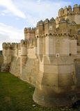 Fosa del castillo de la coca fotos de archivo
