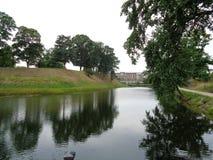 Fosa del fuerte de Copenhague imagen de archivo libre de regalías