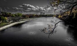 Fosa widok od Osaka kasztelu Obraz Royalty Free