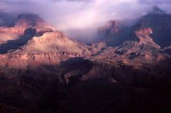 Foschia del grande canyon Immagini Stock