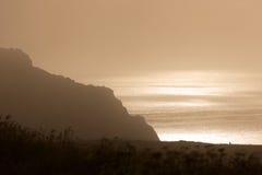 Foschia del mare di mattina Immagini Stock Libere da Diritti