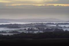 Foschia del nord di mattina di Gower Immagine Stock