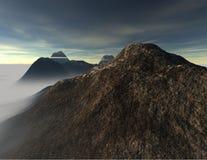 Foschia della montagna fotografie stock libere da diritti
