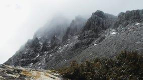 Foschia della montagna della culla archivi video