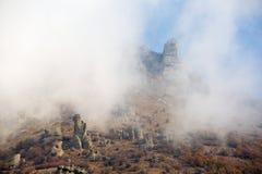 Foschia delle rocce di mattina Fotografia Stock