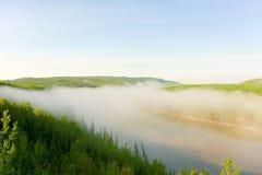 Foschia di mattina nel Canada del Nord Immagine Stock