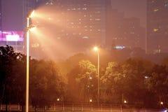 Foschia e polvere a Shanghai Cina Fotografie Stock Libere da Diritti