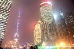 Foschia e polvere a Shanghai Cina Fotografia Stock