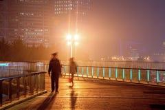 Foschia e polvere a Shanghai Cina Fotografia Stock Libera da Diritti