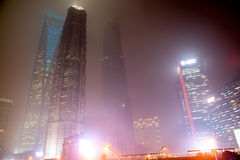 Foschia e polvere a Shanghai Cina Fotografie Stock