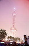 Foschia e polvere a Shanghai Cina Immagini Stock Libere da Diritti