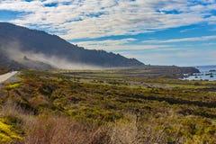 Foschia pacifica della valle Fotografia Stock