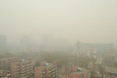 Foschia a Pechino Fotografia Stock