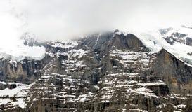 Foschia sulla montagna di Jungfrau Immagine Stock