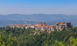 Fosdinovo village in Italy Tuscany panorama royalty free stock photography