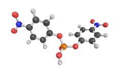 Fosfat för Bis (4-nitrophenyl), en salt natrium modell 3d Royaltyfri Bild