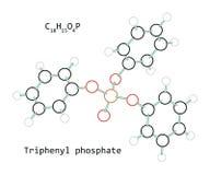 Fosfato trifenilico C18H15O4P della molecola Fotografia Stock