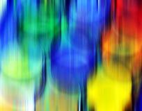 Fosforescerande livliga pastellfärgade designfläckar för hypnotiska skuggor, abstrakt skämtsam bakgrund Arkivbilder