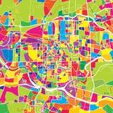 Foshan, China, colorful vector map vector illustration