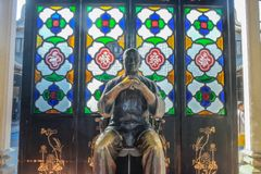 Wong Fei-hung Statue in Wong Fei-hung Memorial Hall.Foshan city china stock photo