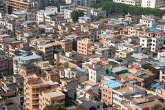 Foshan houses. A closeup view from the top of houses in Foshan, China Stock Photos