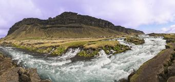 FossÃ-¡ Lar Fluss-Stromschnellen panoramisch Lizenzfreie Stockfotos